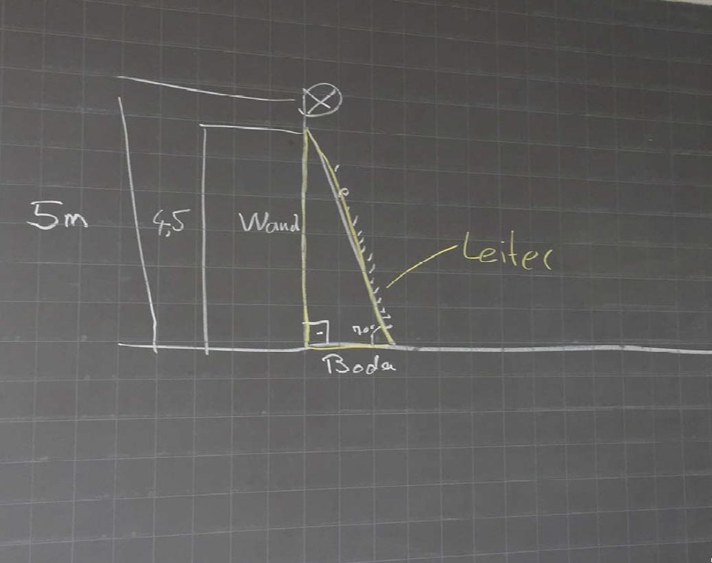 leiter aufgabe satz des pythagoras